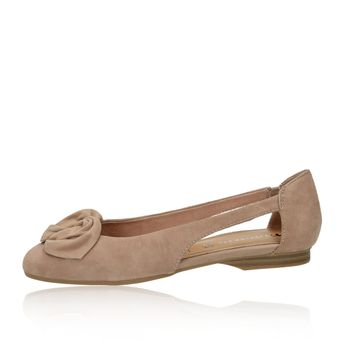 Tamaris dámske semišové balerínky - hnedé