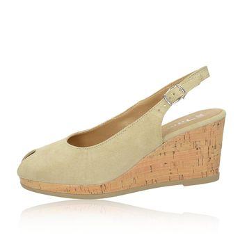 458f91c2385d Tamaris dámske semišové sandále na klinové podrážce - béžové