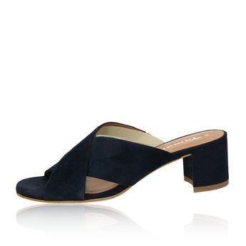 Tamaris dámske semišové šľapky - modré