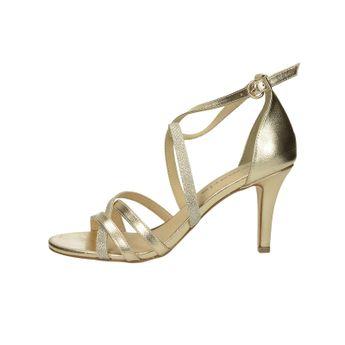 Tamaris dámske spoločenské sandále na podpätku - zlaté 918f9d6dbe