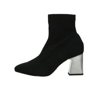 Dámske štýlové ponožkové lodičky - čierne