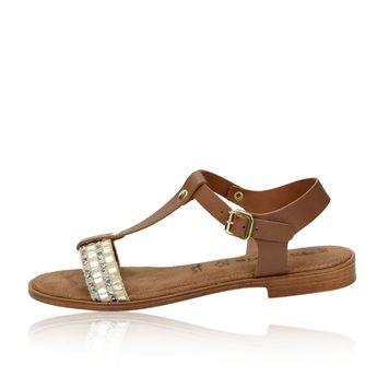 Tamaris dámske štýlové sandále - hnedé