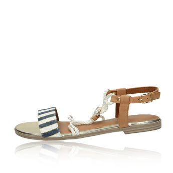 5f343edaf461 Tamaris dámske štýlové sandále - hnedomodré