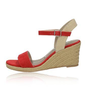 7a830a80df Tamaris dámske štýlové sandále na klinovej podrážke - červené