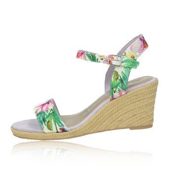 Tamaris dámske štýlové sandále na klinovej podrážke - viacfarebné