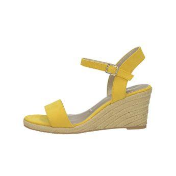 e6c0b79f79 Tamaris dámske štýlové sandále na klinovej podrážke - žlté