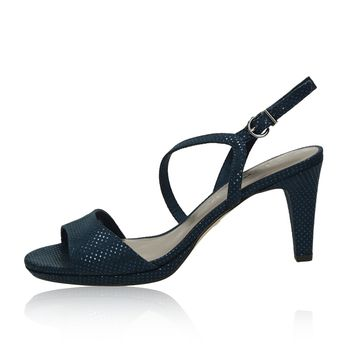 470b3f6bfcc1 Tamaris dámske štýlové sandále na podpätku - tmavomodré