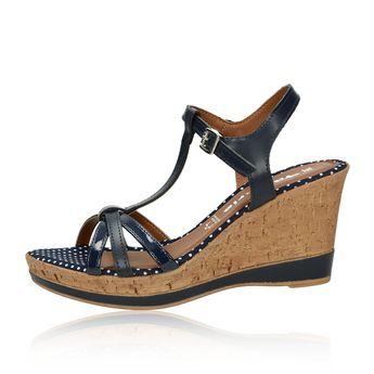 2c03a8e02d4f Tamaris dámske štýlové sandále s bodkovaným vzorom - tmavomodré