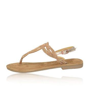 9085ddebffbfd Tamaris dámske štýlové sandále s ozdobnými kamienkami - zlaté