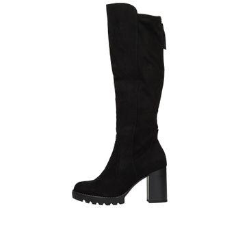 Tamaris dámske textilné vysoké čižmy - čierne
