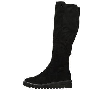 9951435d7e Tamaris dámske textilné vysoké čižmy - čierne