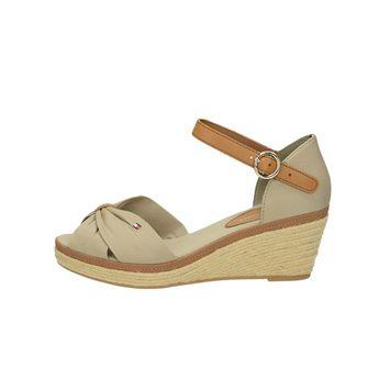 Tommy Hilfiger dámske pohodlné sandále - béžové