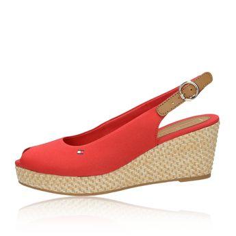 Tommy Hilfiger dámske pohodlné sandále - červené