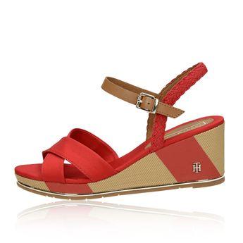 Tommy Hilfiger dámske štýlové sandále - červené
