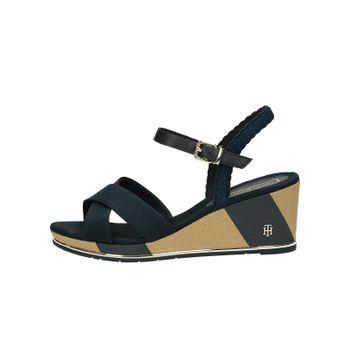 8dc58647ee Tommy Hilfiger dámske štýlové sandále na klinovej podrážke - tmavomodré