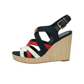 e41ba770ee Tommy Hilfiger dámske štýlové sandále na klinovej podrážke - viacfarebné