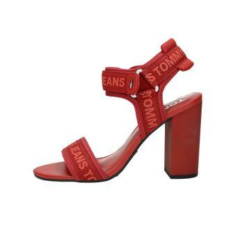 9523dbf5a951 Tommy Hilfiger dámske štýlové sandále na suchý zips - červené