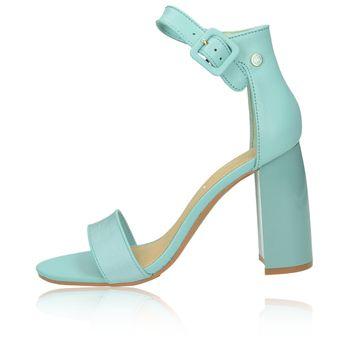 5c36dfab9164 Tommy Hilfiger dámske štýlové sandále na vysokom podpätku - zelené
