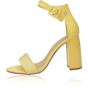 d5599130a Tommy Hilfiger dámske štýlové sandále na vysokom podpätku - žlté