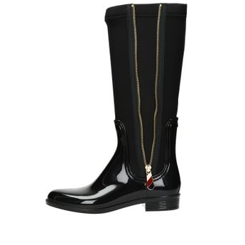 Tommy Hilfiger dámske štýlové vysoké čižmy - čierne