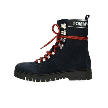 Tommy Hilfiger dámske vysoké kotníky - modré
