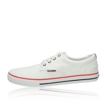 Tommy Hilfiger pánske štýlové textilné tenisky - biele 325c7aefda0
