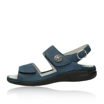 Waldläufer dámske nubukové sandále - tmavomodré