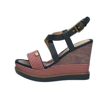 Wrangler dámske štýlové sandále na klinovej podrážke - červené