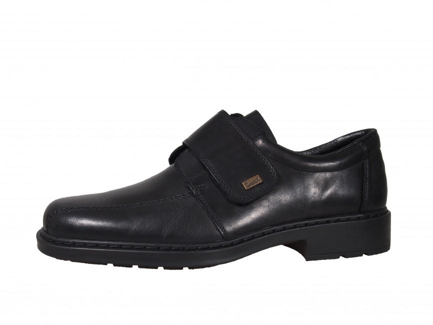 Rieker pánske topánky na suchý zips - čierne ... dd2eff5dca9