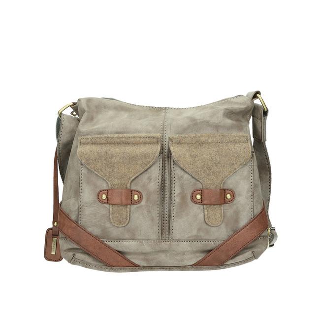 ea6ffa33447 Rieker dámska praktická kabelka na zips - béžová