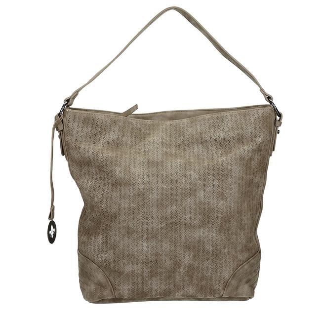 Rieker dámska veľká kabelka na zips - hnedá