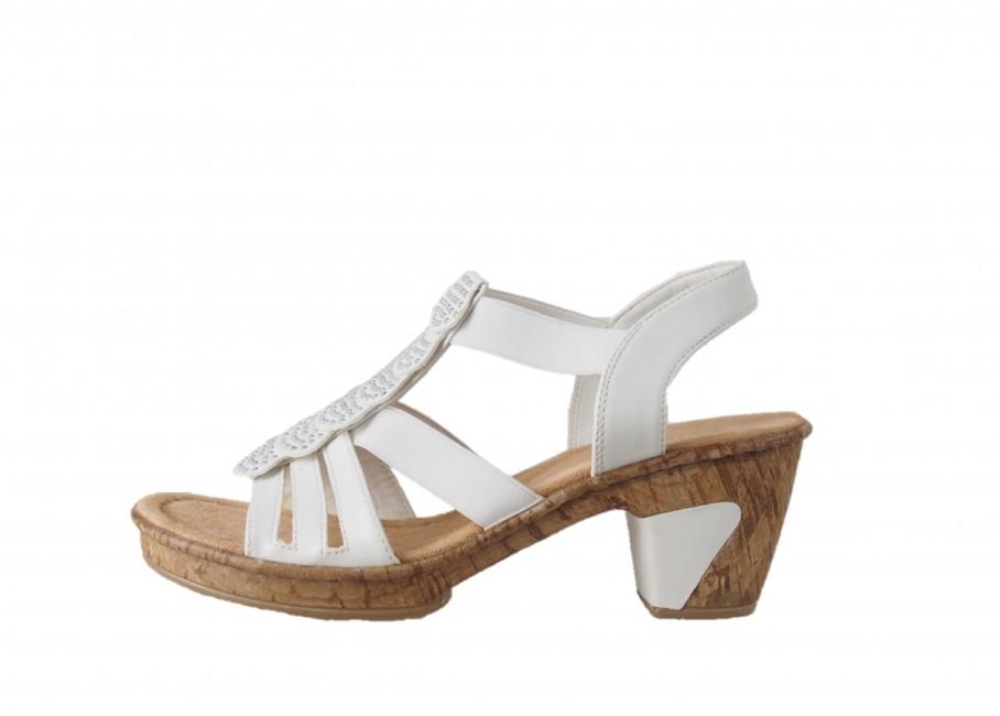 f122114607c3 Rieker dámske sandále - biele Rieker dámske sandále - biele ...
