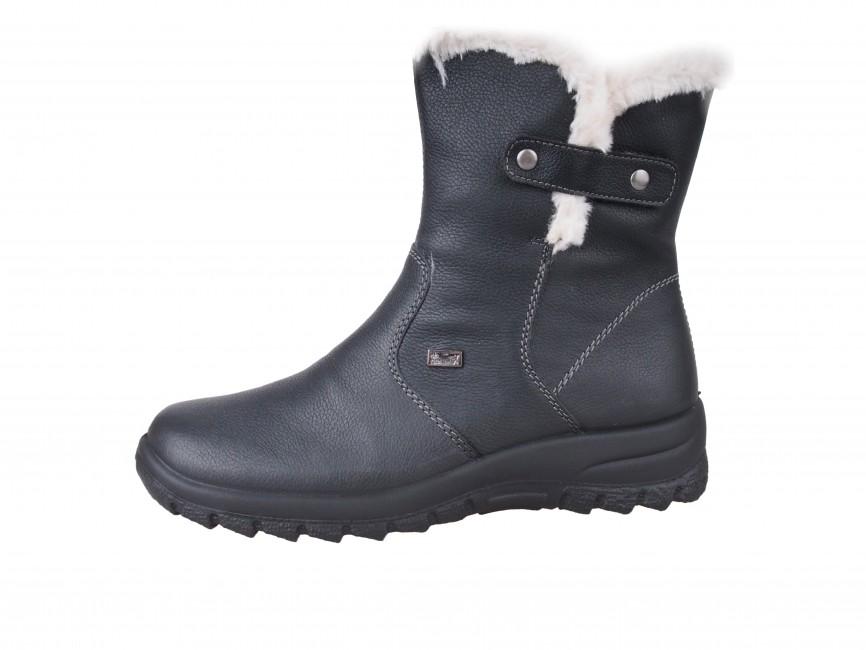 4bf19aff5023 ... Rieker dámske nízke zimné čižmy - čierne ...
