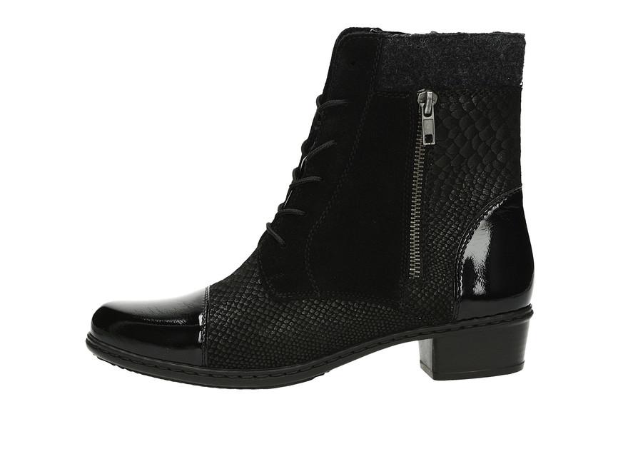 f81960d29151 Rieker dámske elegantné čižmy - čierne Rieker dámske elegantné čižmy -  čierne ...