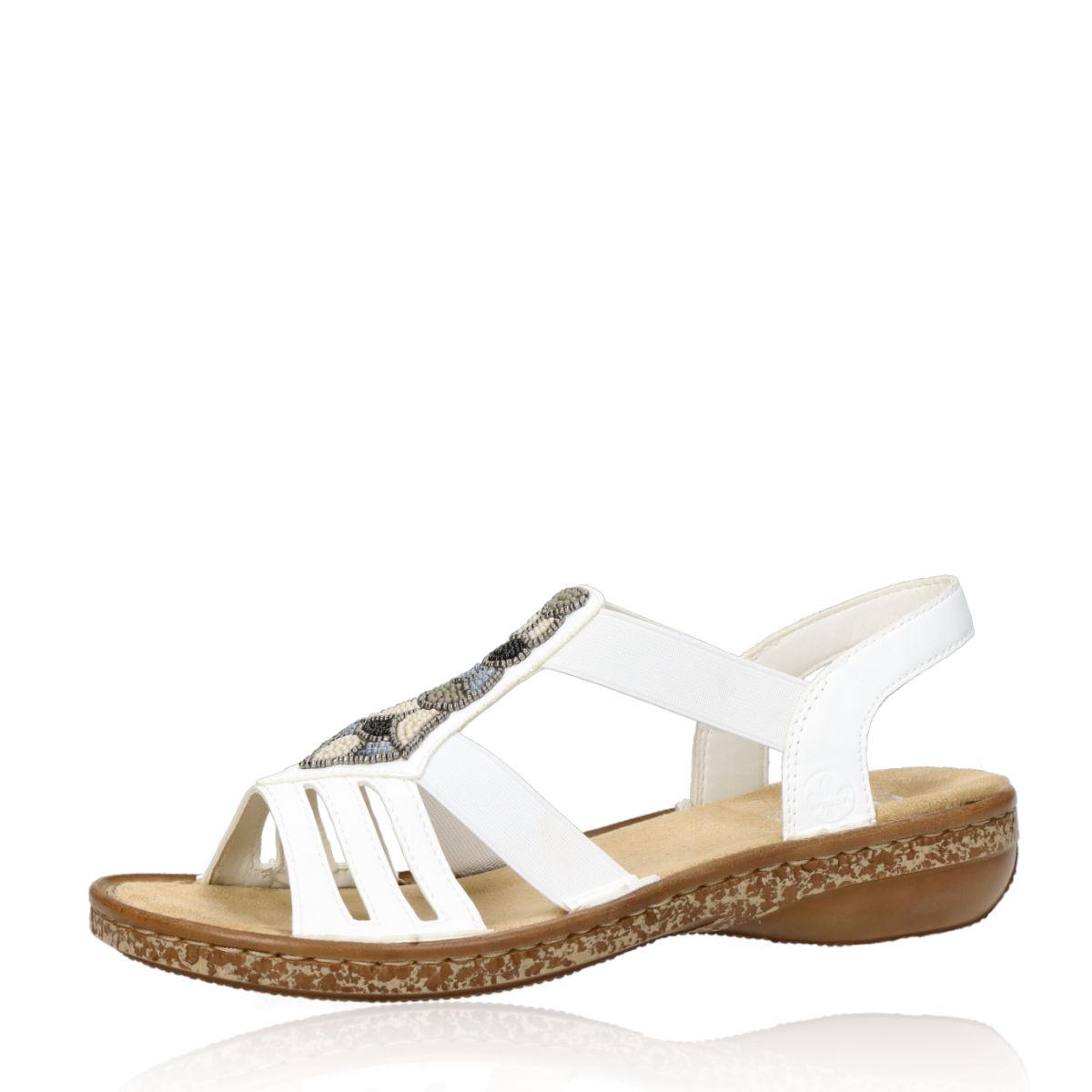 0cb56bf8b8db Rieker dámske elegantné sandále - biele Rieker dámske elegantné sandále -  biele ...