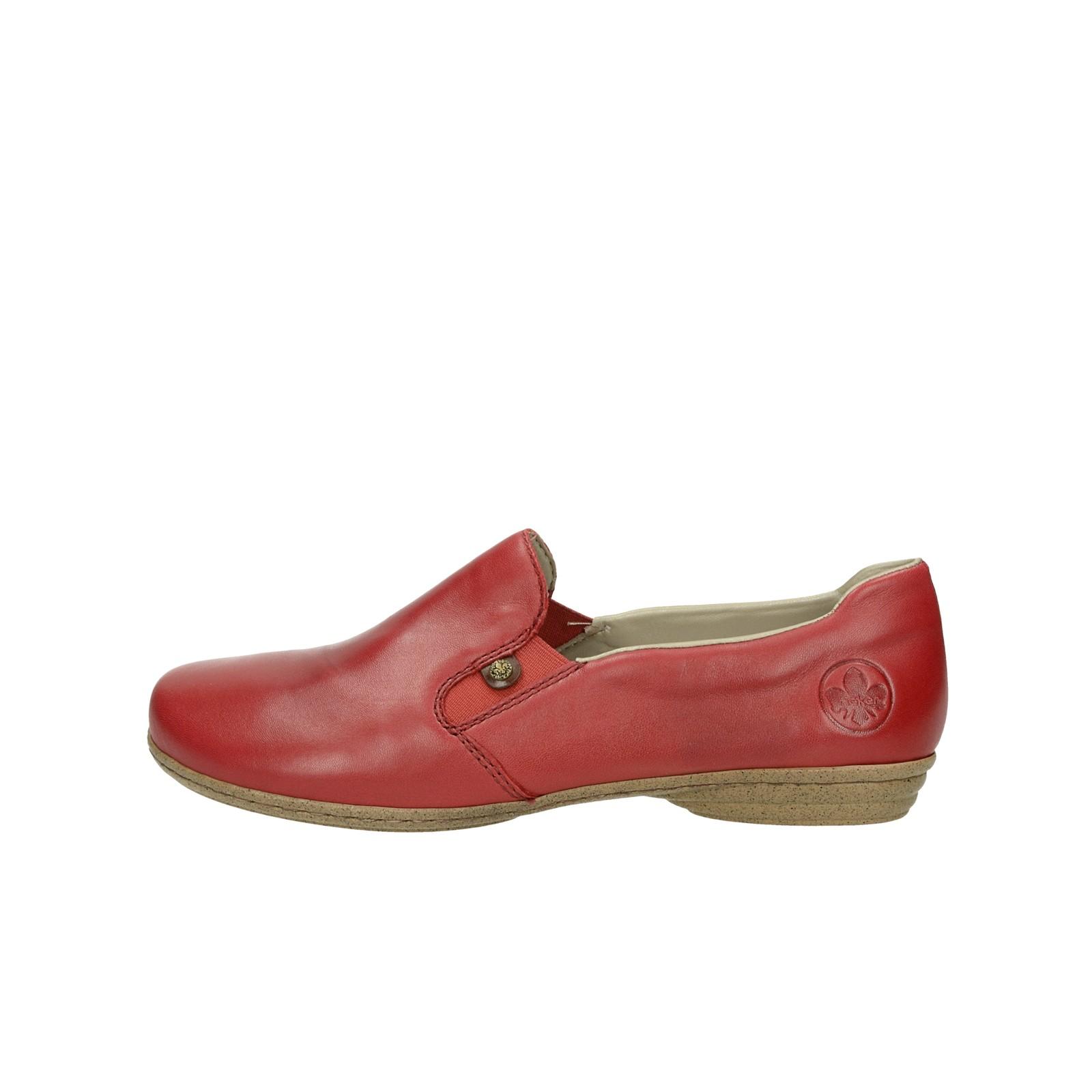 7d1406475377 Rieker dámske kožené poltopánky - červené Rieker dámske kožené poltopánky -  červené ...