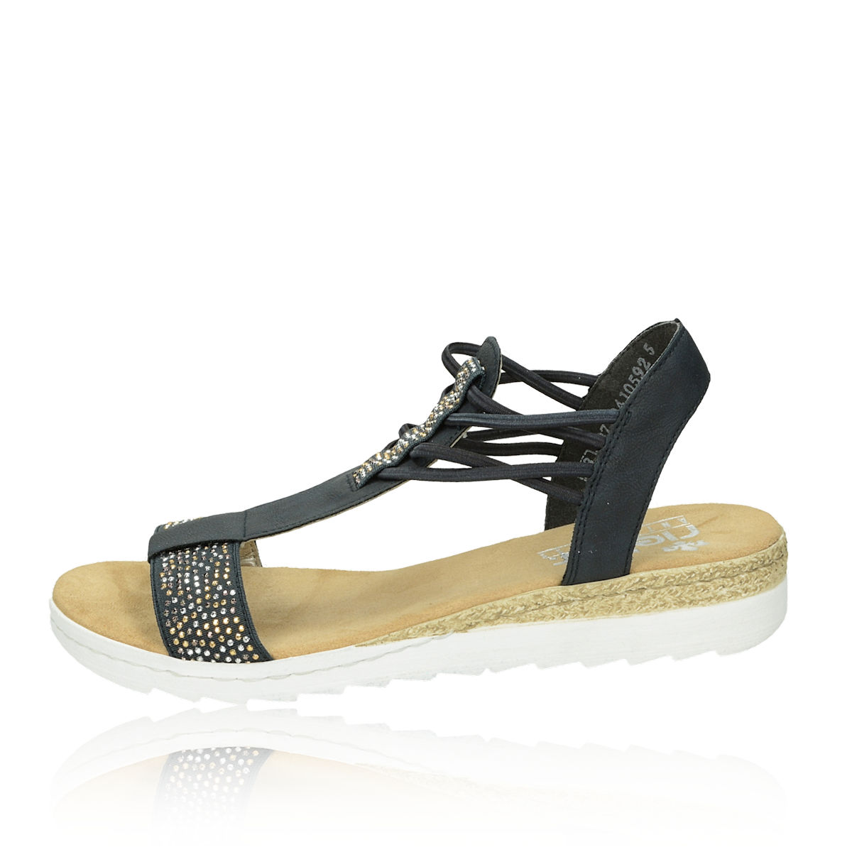 e2b38102d3ef Rieker dámske pohodlné sandále - modré Rieker dámske pohodlné sandále -  modré ...