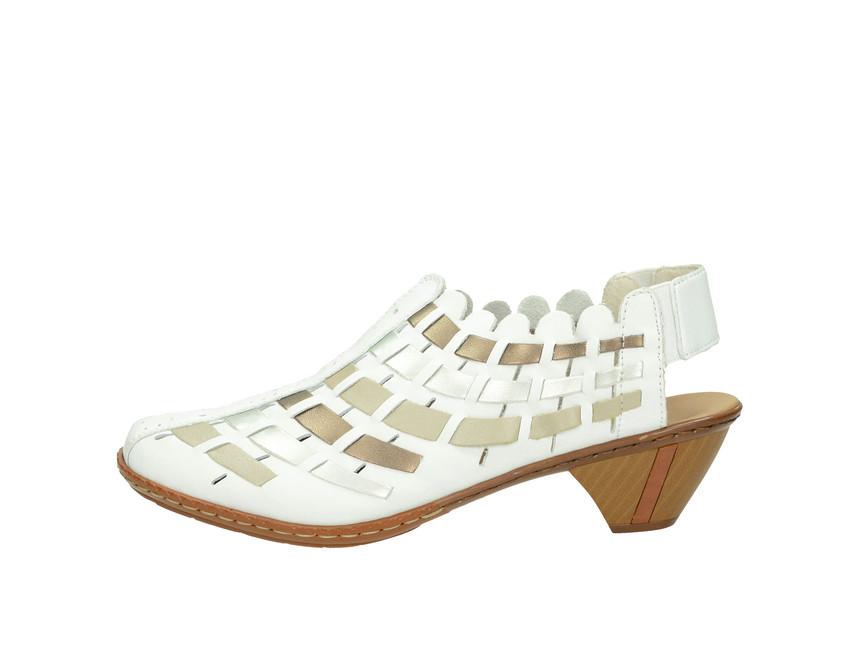 c2121df55ba1 Rieker dámske sandále - biele Rieker dámske sandále - biele ...