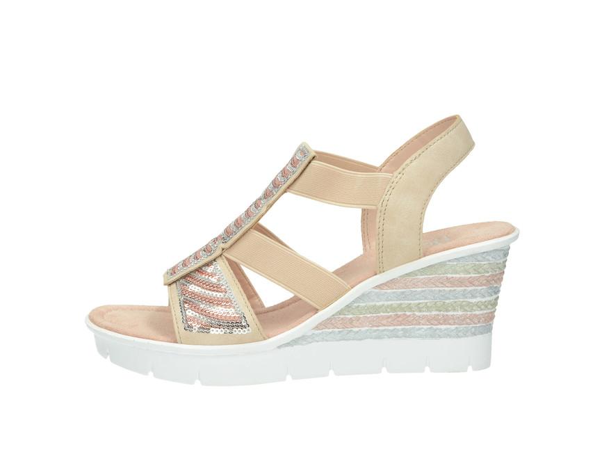 c2cef8f44873 Rieker dámske sandále - ružové Rieker dámske sandále - ružové ...