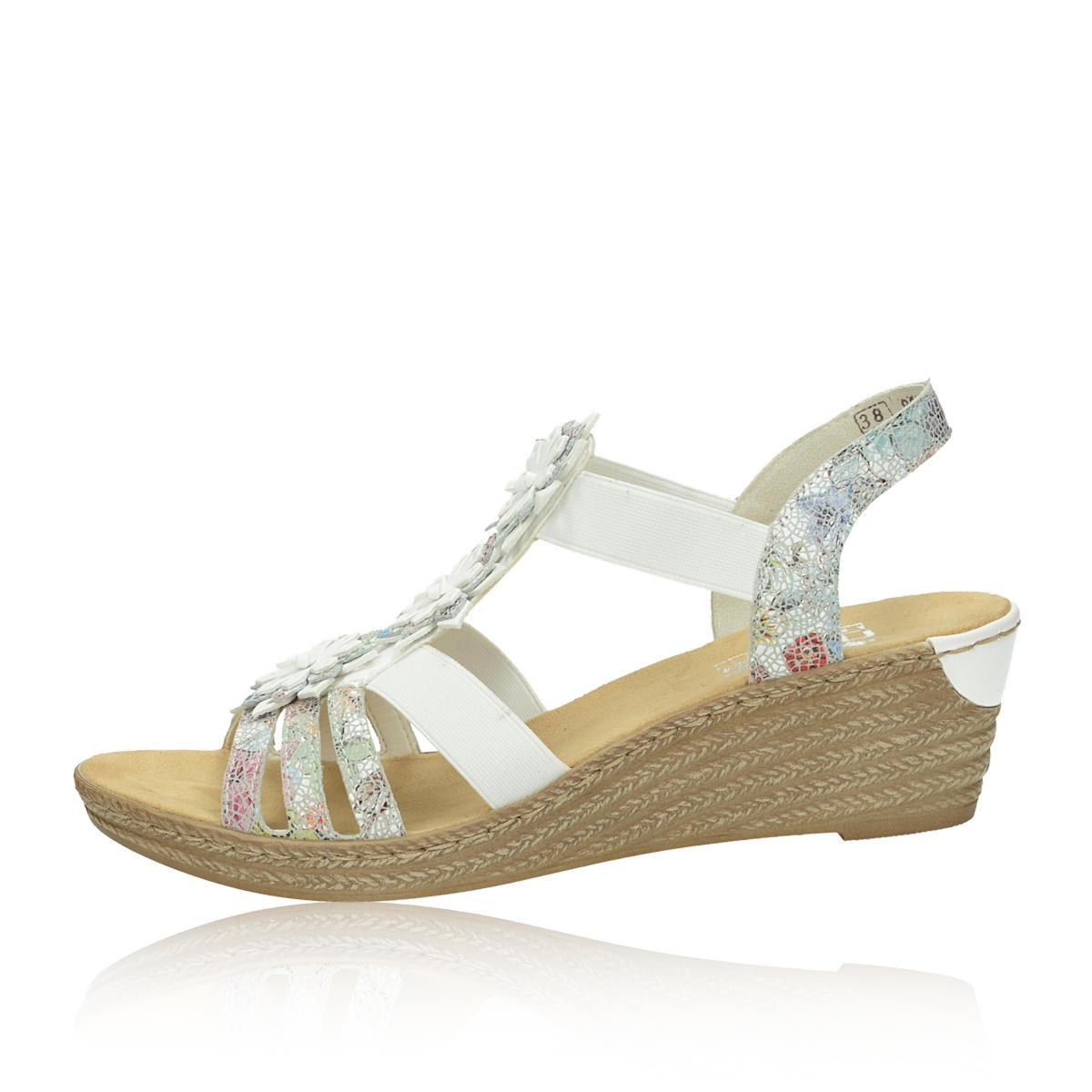 37f6a8fb1fd4 Rieker dámske štýlové sandále - biele Rieker dámske štýlové sandále - biele  ...