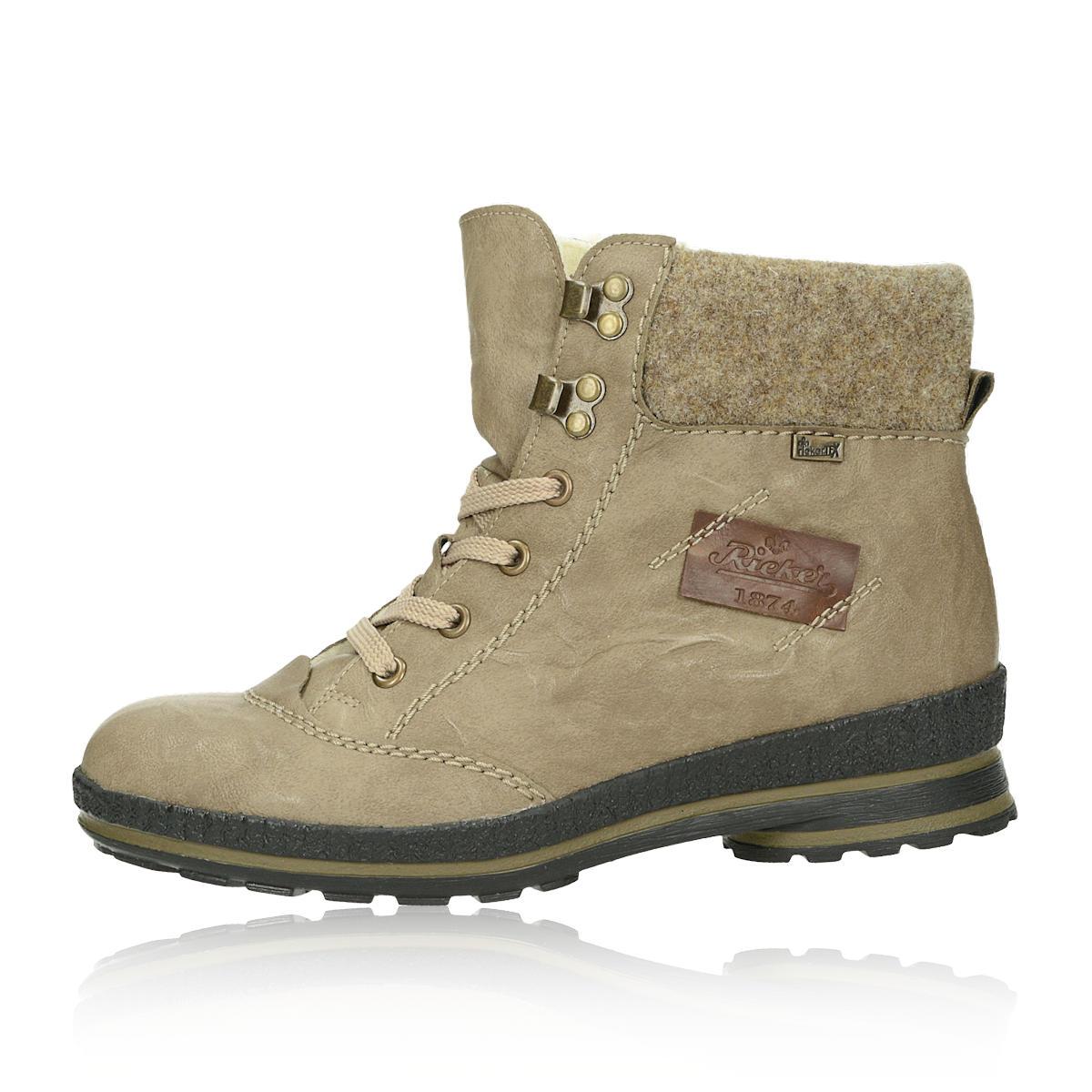 caff876f640a ... Rieker dámske zimné členkové topánky - béžové ...