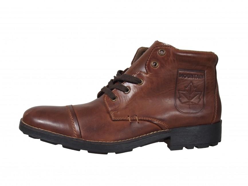 2a0edd60a1 ... Rieker pánske zimné členkové topánky - hnedé ...