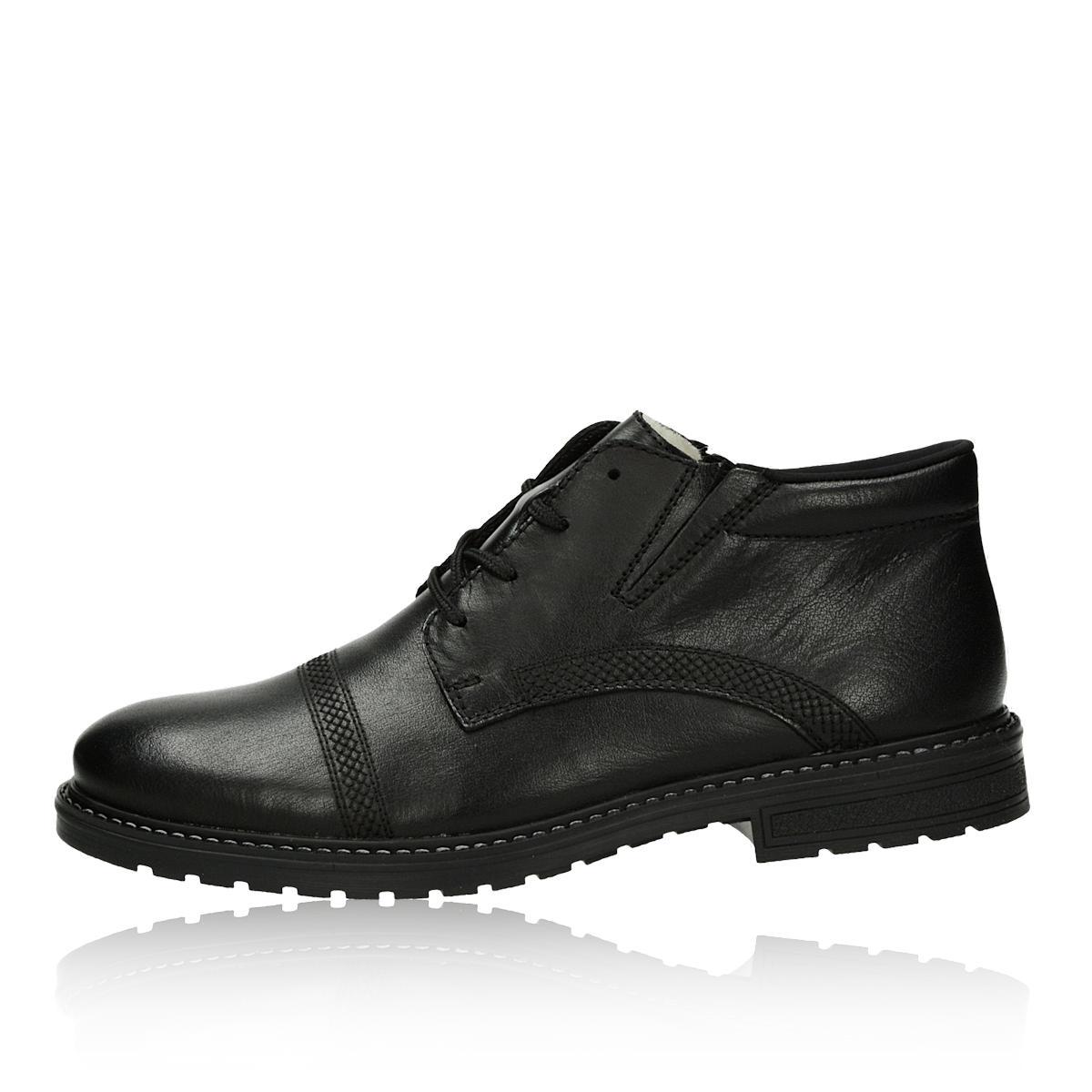 83a6f6b9d364 ... Rieker pánska kožená zateplená členková obuv - čierna ...