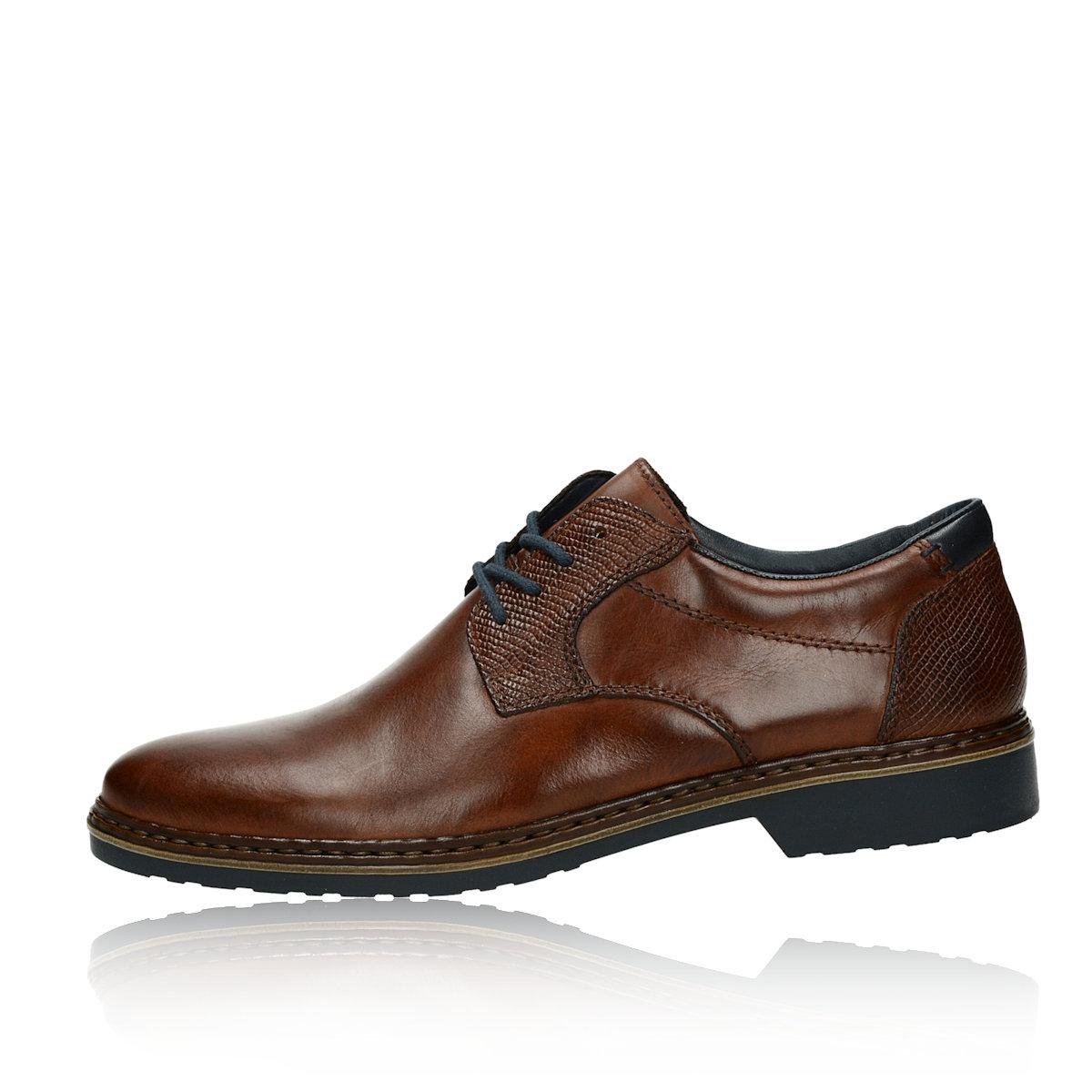Rieker pánske kožené spoločenské topánky - hnedé