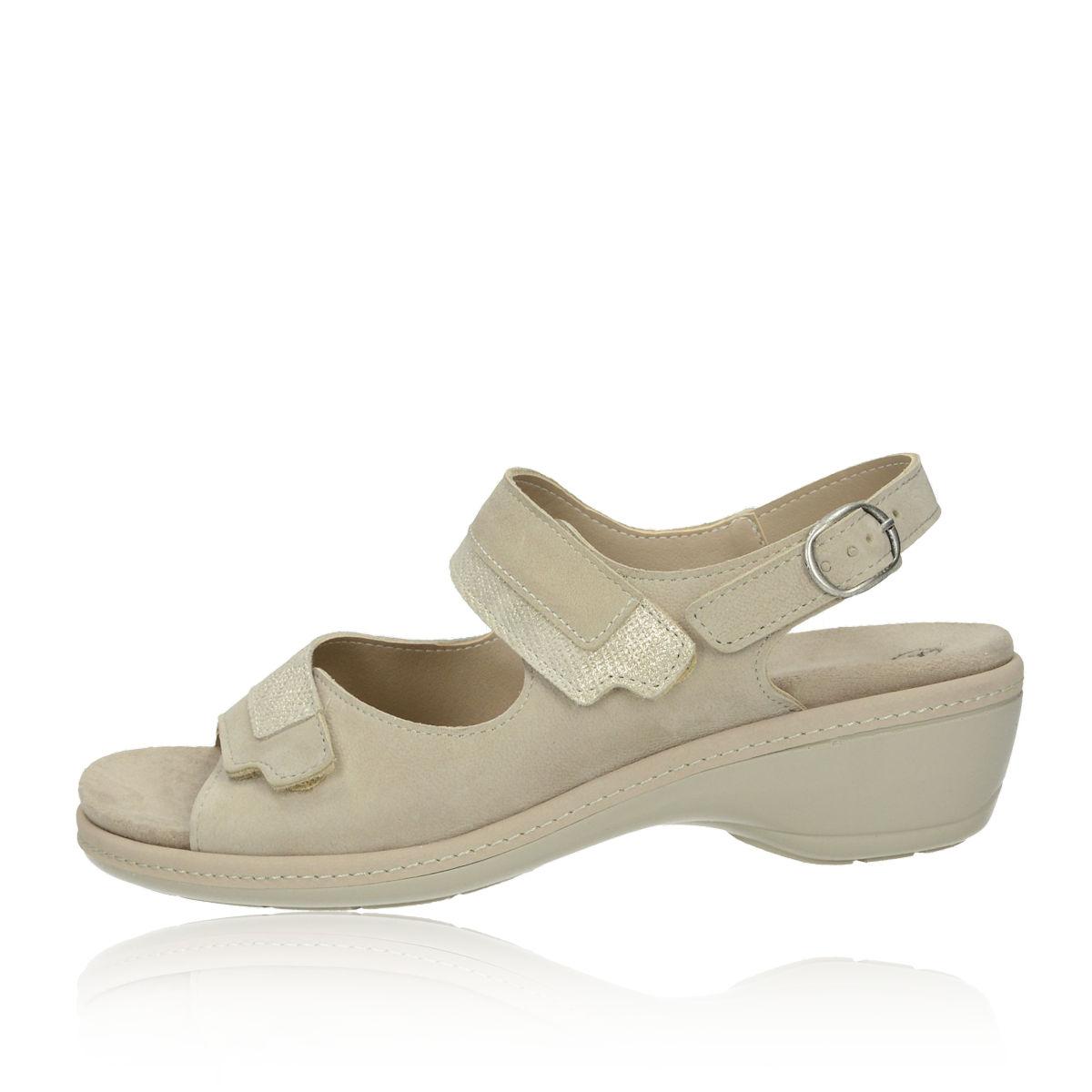 2b878495f7f0 ... Robel dámske pohodlné sandále na suchý zips - béžové ...