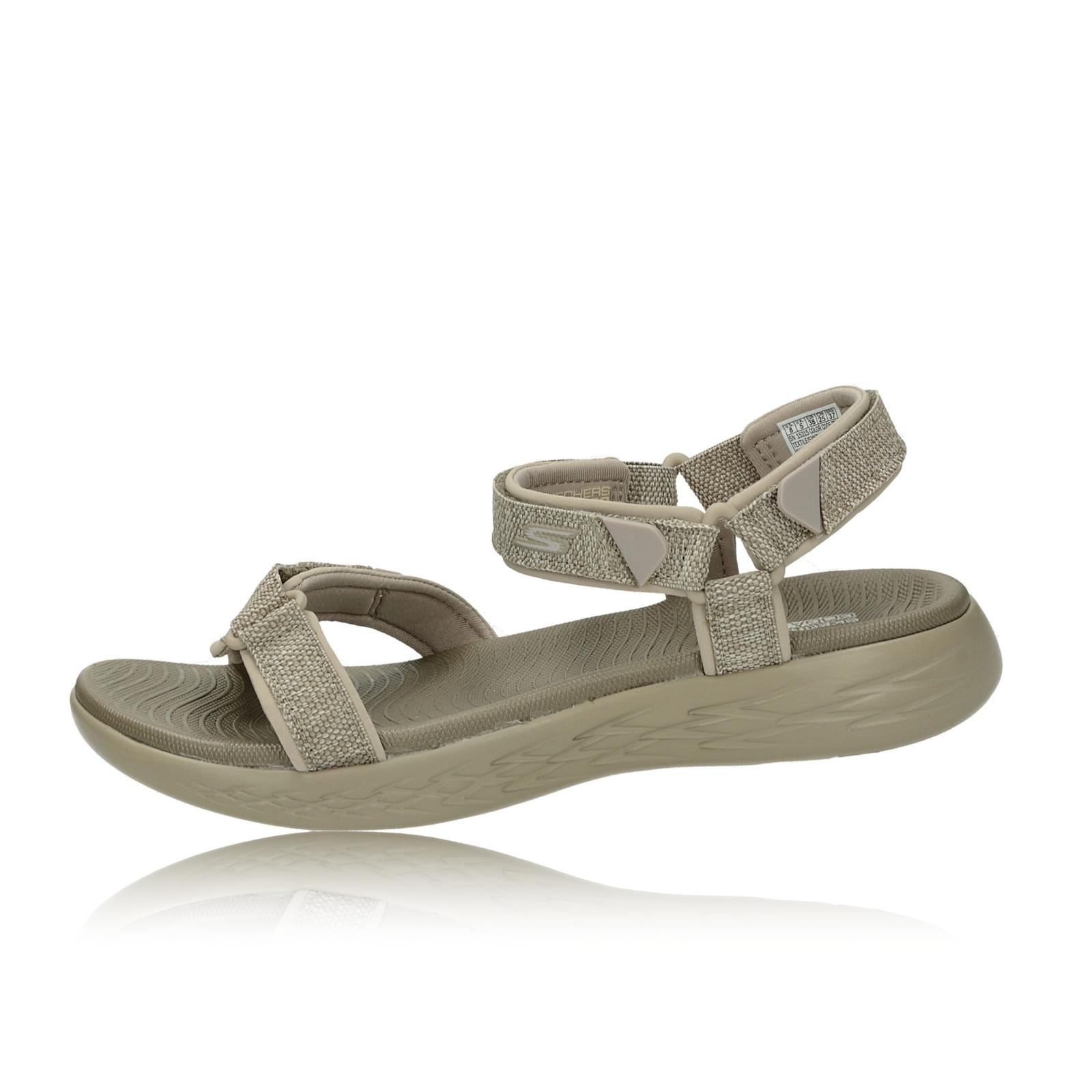9634f8366283 Skechers dámske pohodlné sandále - hnedé Skechers dámske pohodlné sandále -  hnedé ...