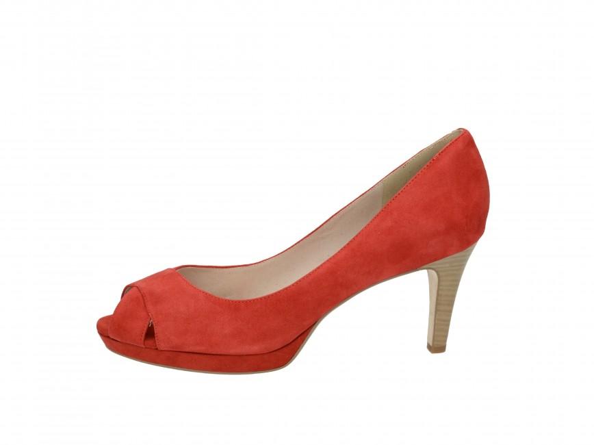 Tamaris dámske kožené lodičky - červené Tamaris dámske kožené lodičky -  červené ... c7fc406471