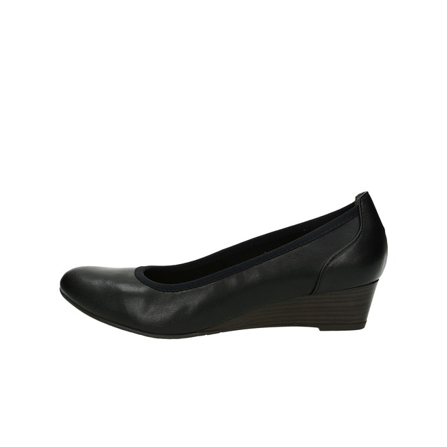 ... Tamaris dámske lodičky na nízkom podpätku - čierne ... b8316ee115