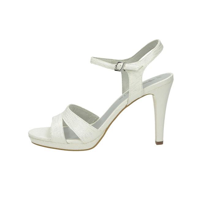c7ca29c426df ... Tamaris dámske elegantné sandále na podpätku - biele ...
