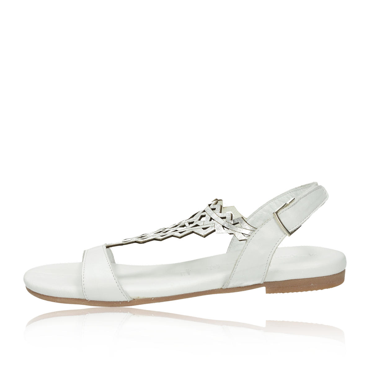 11bab16ab648 ... Tamaris dámske elegantné sandále na suchý zips - biele ...